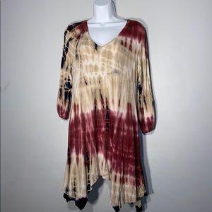 Tie dyed rayon dress/tunic